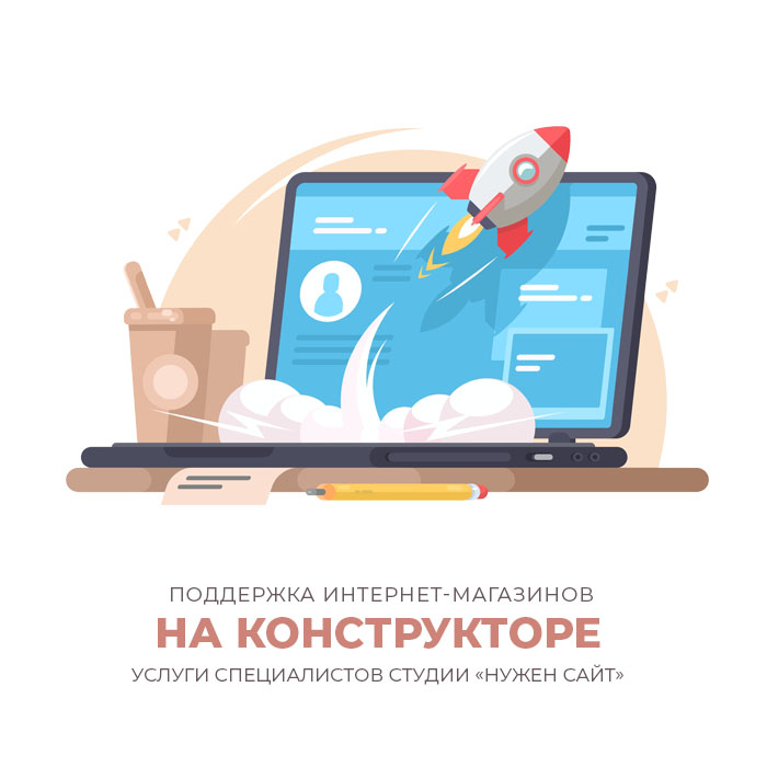 поддержка интернет-магазинов на конструкторе