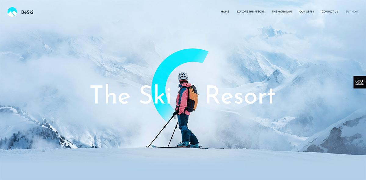 шаблон лыжи спорт